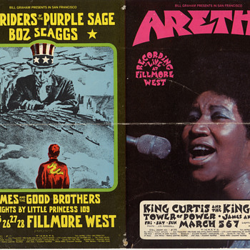 Aretha Franklin/New Riders at the Fillmore - Music Memorabilia