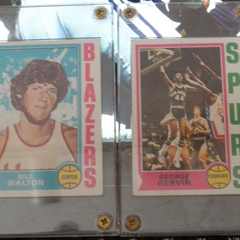 '74-'75 Topps Bill Walton and George Gervin  - Basketball