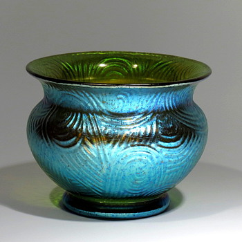Spiraloptisch Creta Silberiris - Art Glass