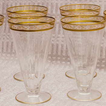Vintage Gold Rimmed Parfait Glasses - Anyone know about these?