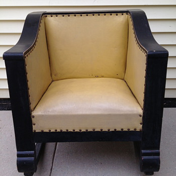 Antique Empire Cube Chair Rocker