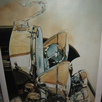 Signed Vintage Cadillac print &quot;Caddychrome&quot; by Charles W. Mundy