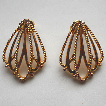 Vintage earrings - marked?