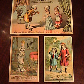Victorian Advertising Trading Cards - Todays Estate Sale Find! - Cards