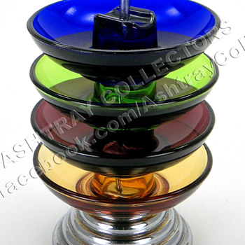 5 Piece Colored Ashtray Set