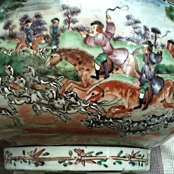 Chinese Export Porcelain Famille Rose Punch Bowl / Part Deux /Real 18th Century or Reproduction ?? - Asian