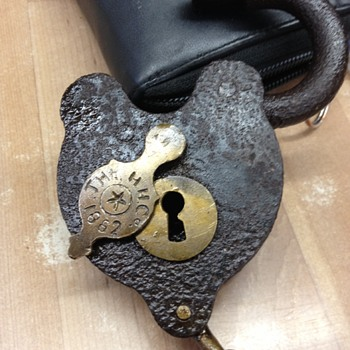 The H.H. Co. Railroad Padlock w/key 1862