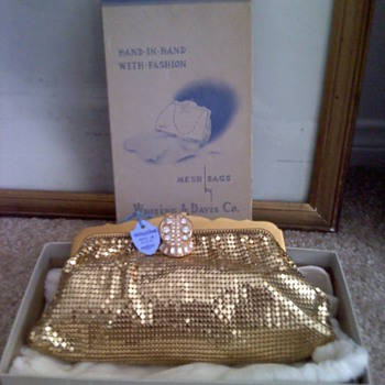 Whiting & Davis, Mint condition handbag, with box.
