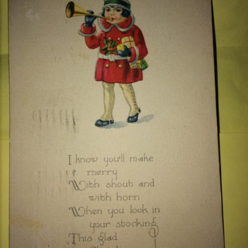 1924 Christmas Post Card - Postcards