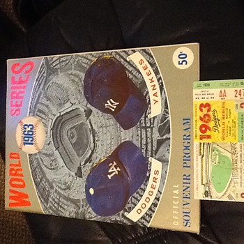1963 World Series Souvenir Program and Ticket Stub