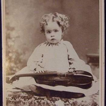 The youngest fiddler c. 1880 - Photographs