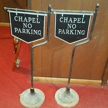 Cast iron chapel signs