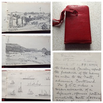 Army officers note/sketch book c.1890s