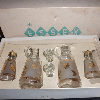 An Essex Creation - Salt, Pepper, Oil and Vineger set - Glassware