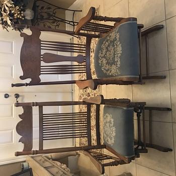 Grandmother & Father Platform Gliding Rocking Chairs- I think! - Furniture