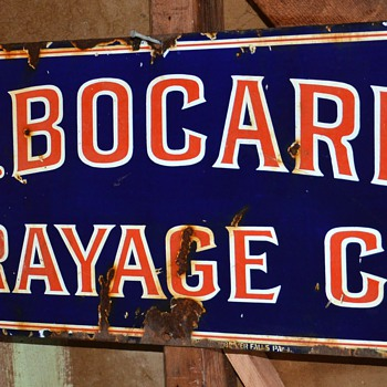 J. B. Bogarde Drayage Co. Porcelain Enamel Sign  - Advertising