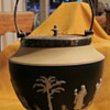 Yellow-Black-White Tri-Color Wedgwood Biscut Barrel