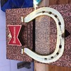 "Budweiser  14"" Horse Shoe Beer Ad Sign"
