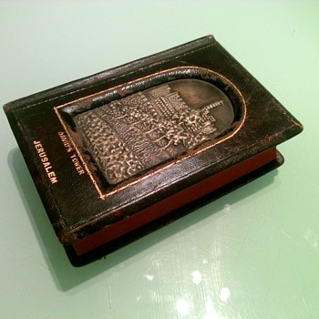 Grandfather's leather bound bible with engraving of David's Towe