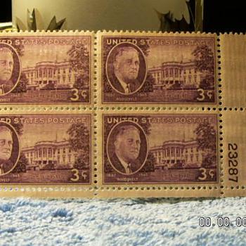 1945 Roosevelt 3¢ Stamps