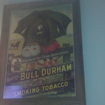 Bull Durham chromo - Advertising