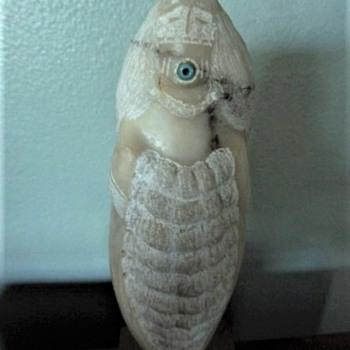 "Native American Carved ""Fertility""? Statue  artist ""Toya"""