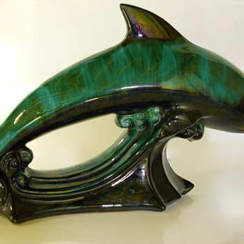 "Blue Mountain Pottery""LARGE DOLPHIN"" 20 Century"