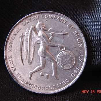 Really Nice 1874 Elgin National Watch Company Chicago Expo Token