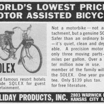 1952 - Solex Motor-Bicycle Advertisement - Advertising
