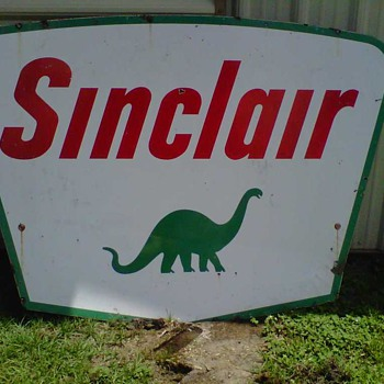 Porcelain Sinclair Sign - Signs