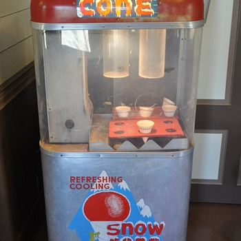 Old snow cone machine