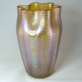 Loetz Orange Aeolus, Series II, 1902 - Art Glass