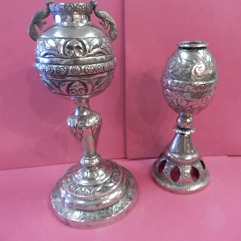 Solid Silver South American(?) Religious Items - Sterling Silver