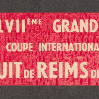 1961 - Grand Prix de L'A.C.F. Race Decal