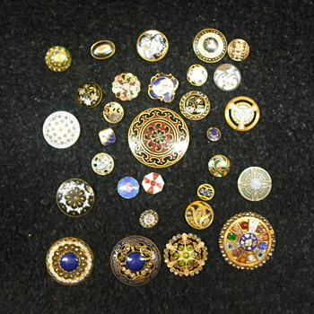 Enamel Buttons - Sewing
