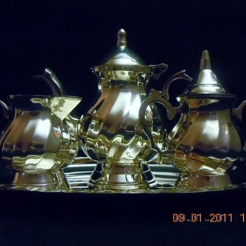 Silver Plated Miniature Tea/Coffee Set - Salesman Sample? - Advertising