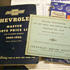 1940's Chevrolet Books/paperwork