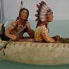 Chief with Warrior in Canoe