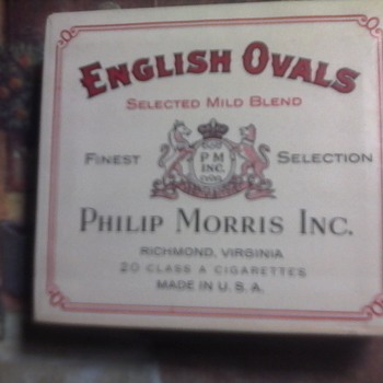 English ovals - Tobacciana