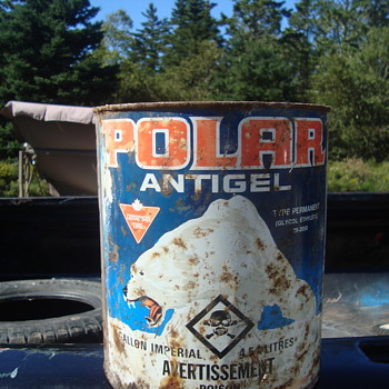 vintage anti freeze can - Petroliana