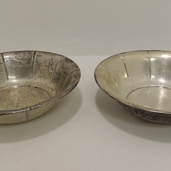 Pair of Sterling Silver Ice Cream Dishes - PREISNER SILVER CO.