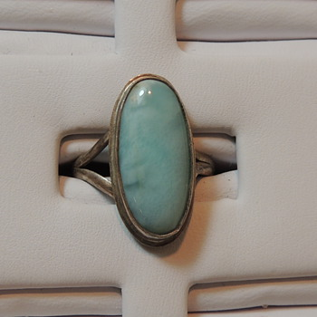 Women's Sterling Silver & Larimar Ring