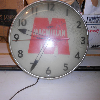 Vintage Macmillan Ring Free Oil Clock - Clocks