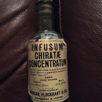Antique Medicine Bottle -Infusum - Bottles
