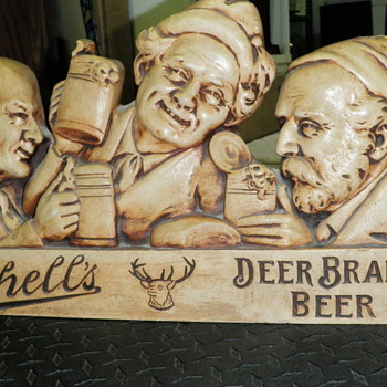 1930's Schell's beer plaster sign
