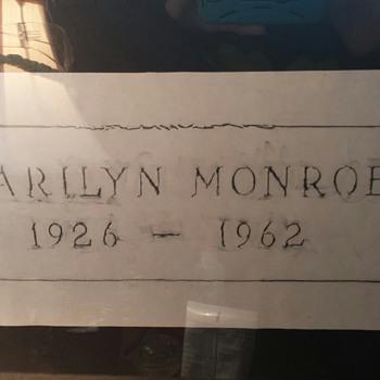 Marilyn Monroe grave rubbing