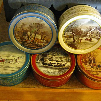 Currier &amp; Ives Tins - Christmas