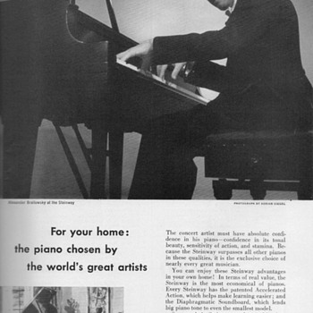 1952 - Steinway &quot;Model S Grand&quot; Advertisement - Advertising