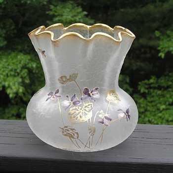 Legras Cameo Glass Vase - Art Glass