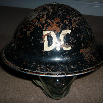 British WW11 Damage Control helmet - Military and Wartime